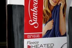 Sunbeam Fleece Heated Blanket New